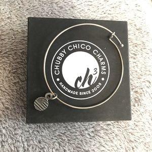 American Flag Charm bracelet bangle